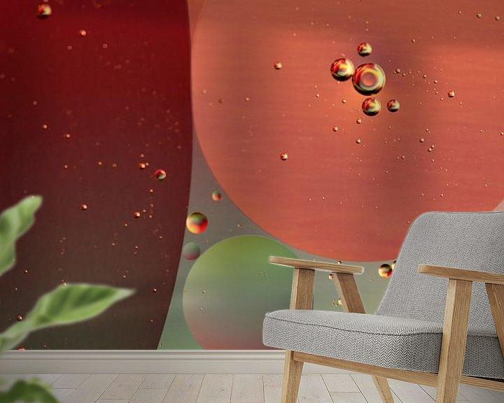 Sfeerimpressie behang: Bubbles Creations van Marcel van Rijn