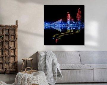 Rotterdam noir, rouge, bleu et jaune