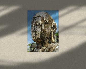Marbre résisté statue de Bouddha, Sri Lanka sur Rietje Bulthuis