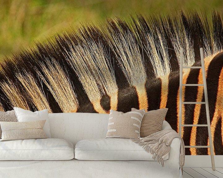 Sfeerimpressie behang: zebra detail van Meleah Fotografie