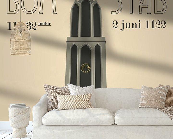 Sfeerimpressie behang: Domtoren Utrecht van Yuri Koole