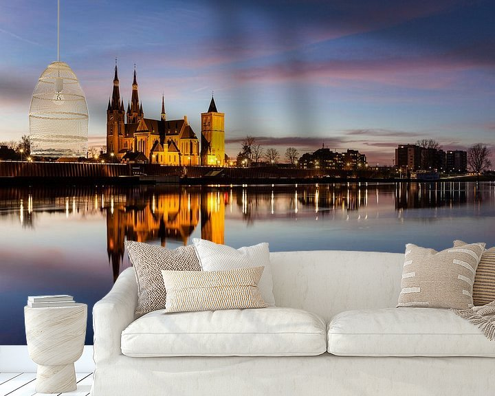 Sfeerimpressie behang: Skyline Cuijk van Bart van Dinten