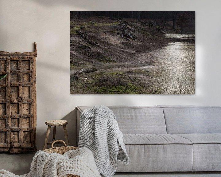 Beispiel: Desolate Landschaft, Sura, Durst, Oosterhout, Breda, Baronie, Nordbrabant, Niederlande, Holland. von Ad Huijben