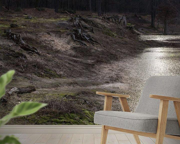 Beispiel fototapete: Desolate Landschaft, Sura, Durst, Oosterhout, Breda, Baronie, Nordbrabant, Niederlande, Holland. von Ad Huijben