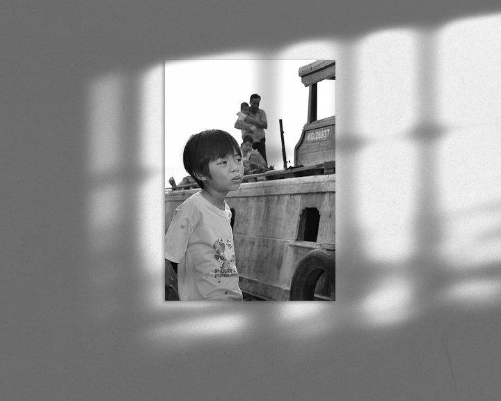 Sfeerimpressie: Vietnamese jongen in gedachten van Jack Koning