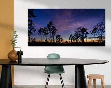 Panorama-Sonnenuntergang Radio Kootwijk von Sander Grefte