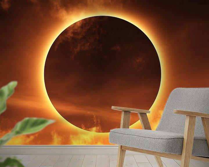 Sfeerimpressie behang: Totale zonsverduistering van Max Steinwald