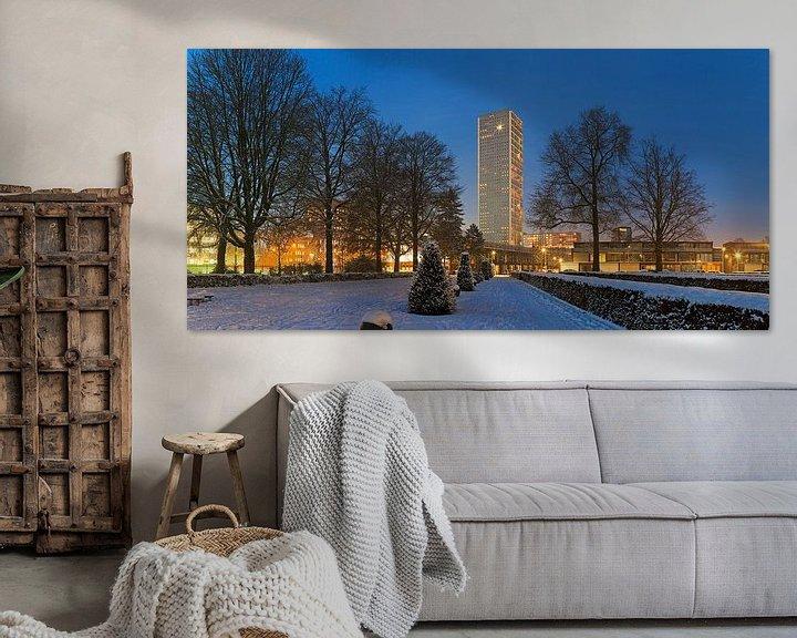 Sfeerimpressie: Besneeuwd Tilburg met Westpoint van Anton de Zeeuw