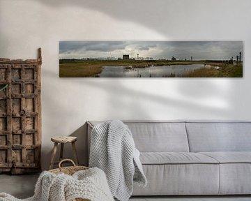 Mega Panorama van de Schokkerhaven