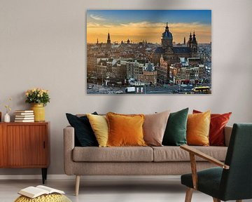 Zonsondergang Amsterdam von Dennis van de Water