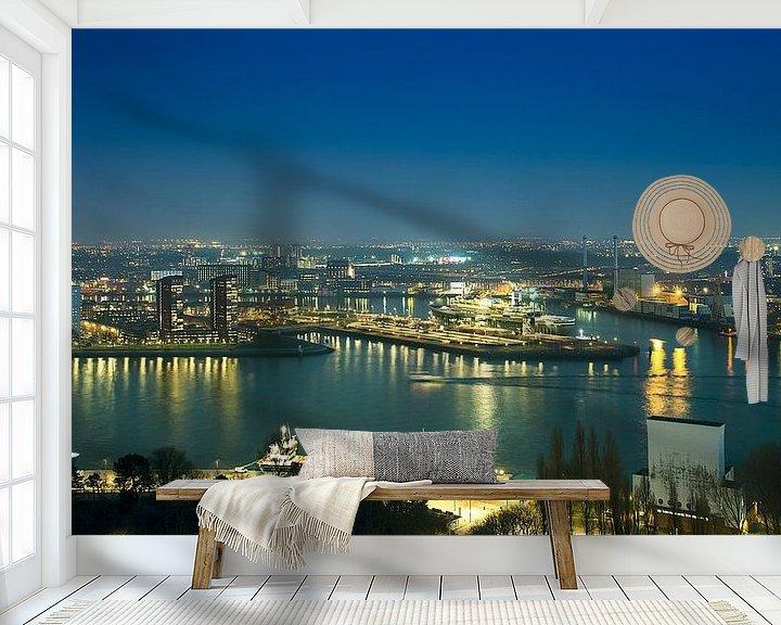 Beispiel fototapete: Panorama Rotterdam bei Nacht von Anouschka Hendriks