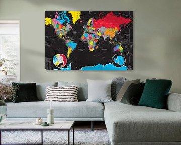 Wereldkaart van MAPOM Geoatlas