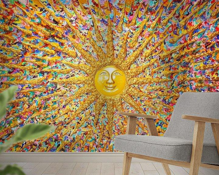 Sfeerimpressie behang: Bollywood Sun van Ralf Hasse