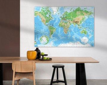 Weltkarte, wie du sie in der Schule hattest von MAPOM Geoatlas