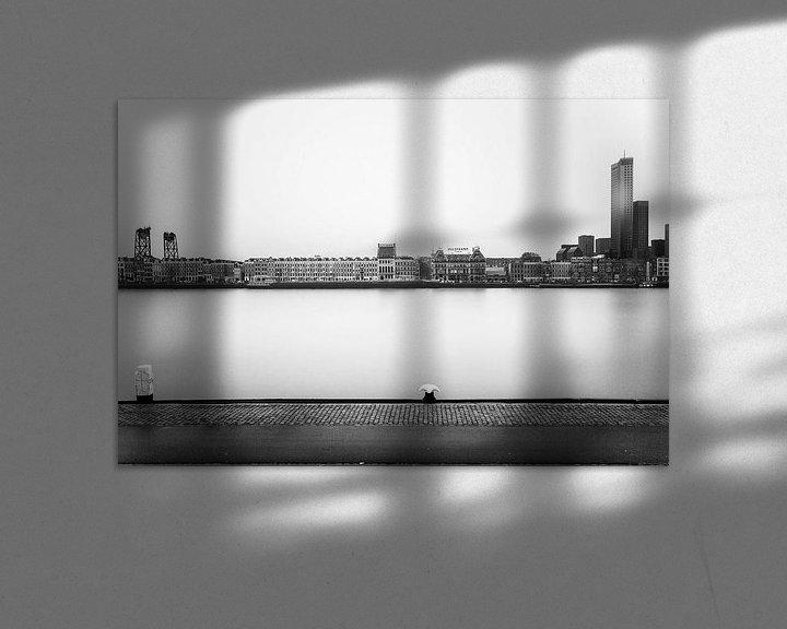 Sfeerimpressie: Rotterdam, Noordereiland skyline van 010 Raw