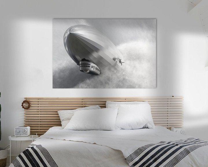 Sfeerimpressie: Luchtschip Zeppelin LZ 126 van Max Steinwald