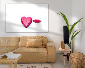 De liefde, een kus = U! van Norbert Sülzner
