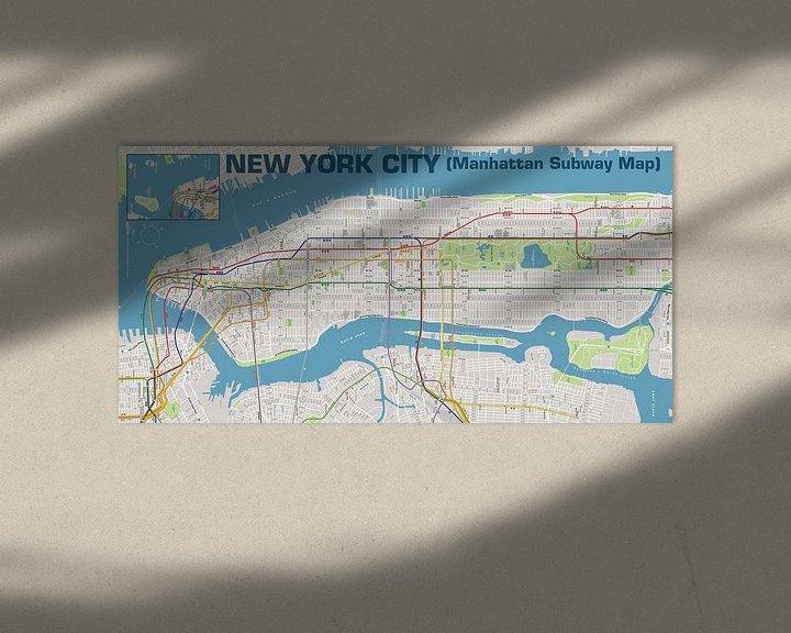 Sfeerimpressie: New York City, Manhattan  van MAPOM Geoatlas