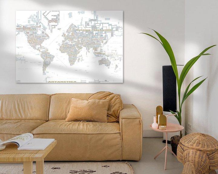 Impression: Carte Typographique Mondiale, Tendency sur MAPOM Geoatlas