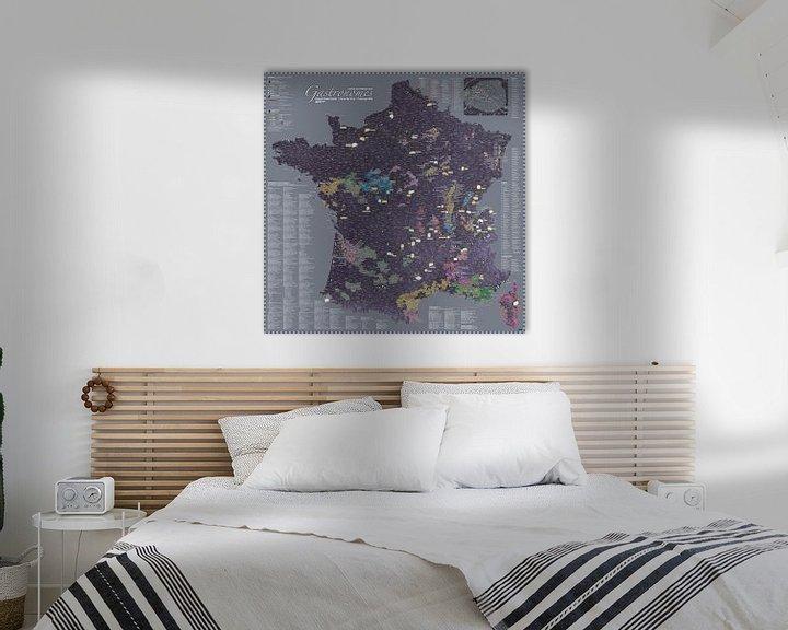 Sfeerimpressie: France Gastronomy Map van MAPOM Geoatlas