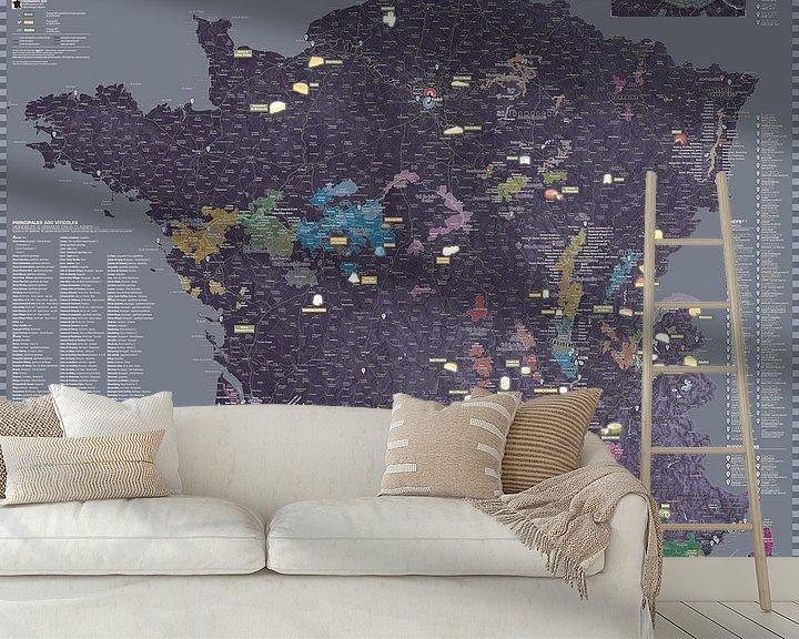 Sfeerimpressie behang: France Gastronomy Map van MAPOM Geoatlas