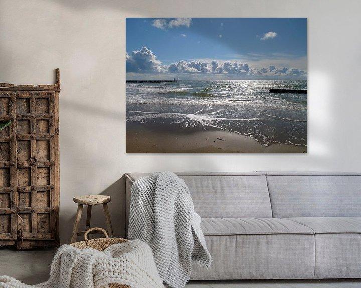 Impression: Ici, sur la côte, la côte de Zeeland sur Groothuizen Foto Art