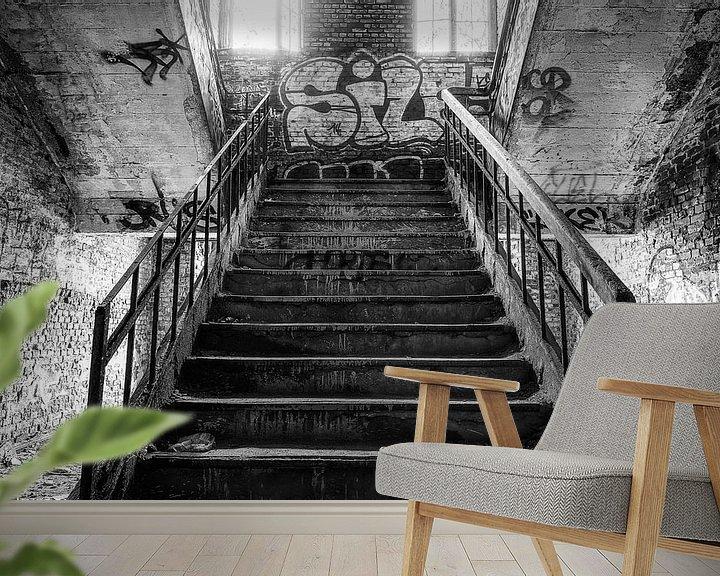 Sfeerimpressie behang: Stairs van Ben van Sambeek