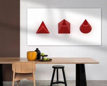 3D-Körper rot van Jörg Hausmann