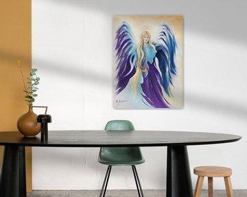 Engel Inspiration - Engelgemälde  von Marita Zacharias