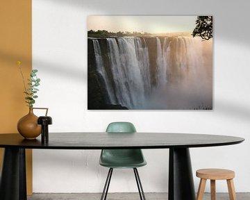 waterfall at sunrise van Gerwin Hulshof