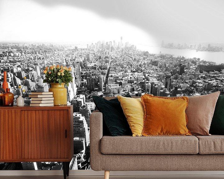 Sfeerimpressie behang: New York oh Nw York van Manuel Losso