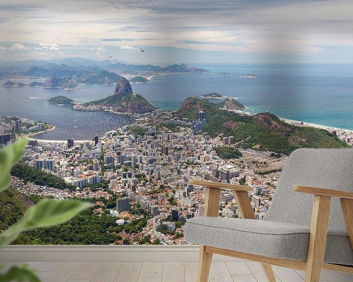 Sfeerimpressie behang: Rio de Janeiro  Corcovado van Jack Tet