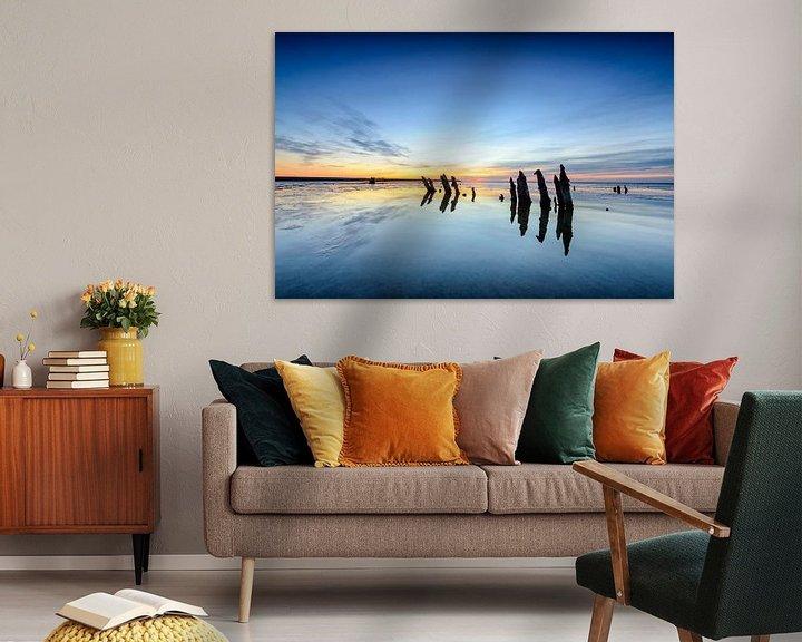 Sfeerimpressie: Zonsondergang boven het wad van Sjoerd van der Wal
