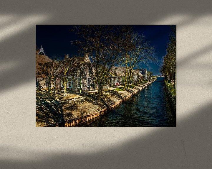 Impression: het Friese dorpje Olde Leije sur Harrie Muis