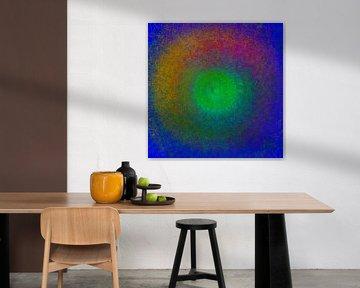 Kleurencirkel, mandala. Variatie I van Rietje Bulthuis