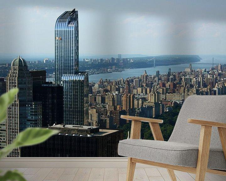 Sfeerimpressie behang: new york city ... concrete jungle II van Meleah Fotografie