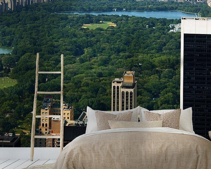 Sfeerimpressie behang: new york city ... concrete jungle III van Meleah Fotografie