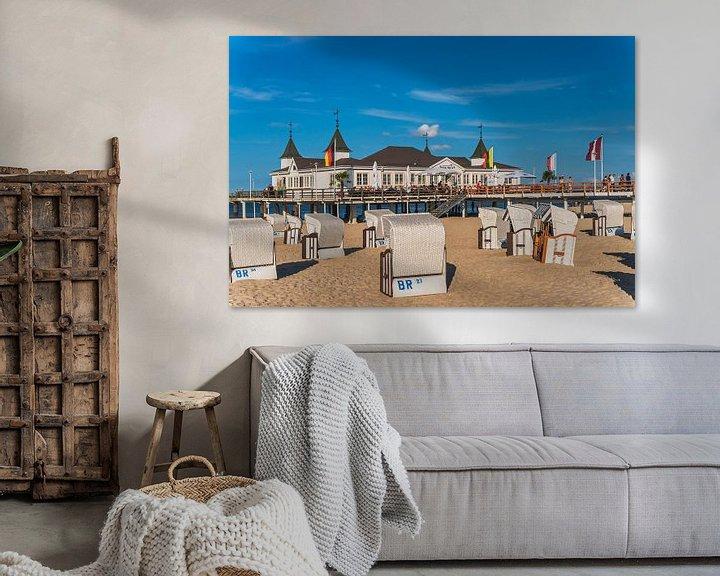 Sfeerimpressie: Ahlbeck Pier, Germany van Gunter Kirsch