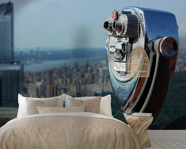 Sfeerimpressie behang: new york city ... distant view I van Meleah Fotografie