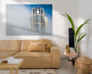 Millenniumtoren in de mist, Rotterdam von Martijn Smeets