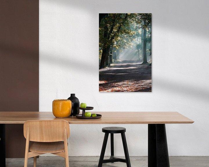 Sfeerimpressie: Mist in het zeister bos van Ramon Bovenlander
