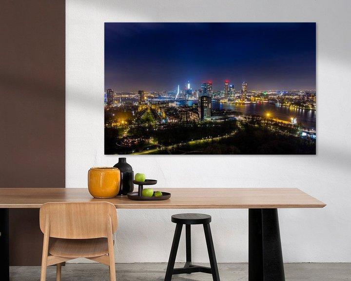 Sfeerimpressie: Skyline Rotterdam  van Evert Buitendijk