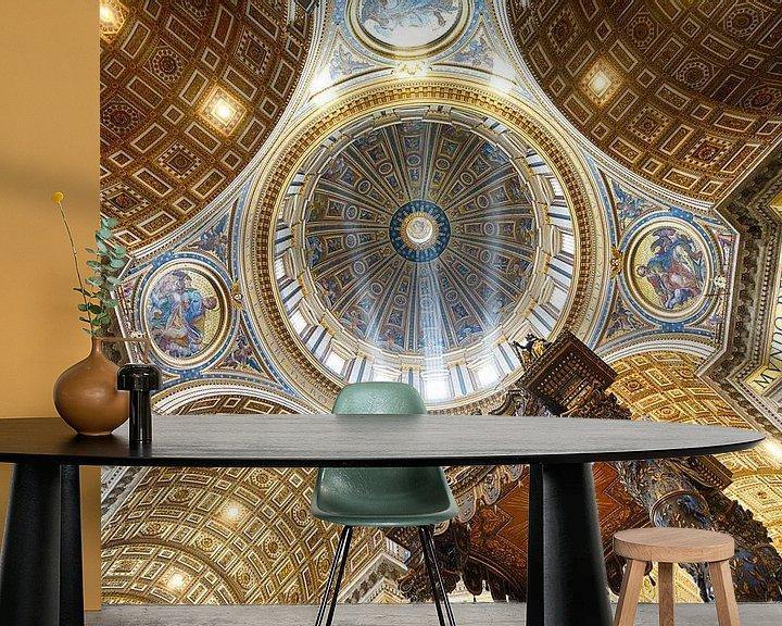 Sfeerimpressie behang: De zon danst in de koepel van Sjoerd Mouissie
