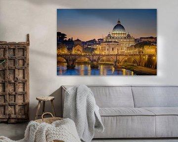 Vatikan bei Sonnenuntergang II von Sjoerd Mouissie