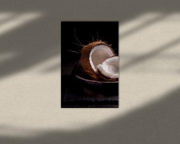 Kokosnoot op zilveren schaal van Studio Windtkracht