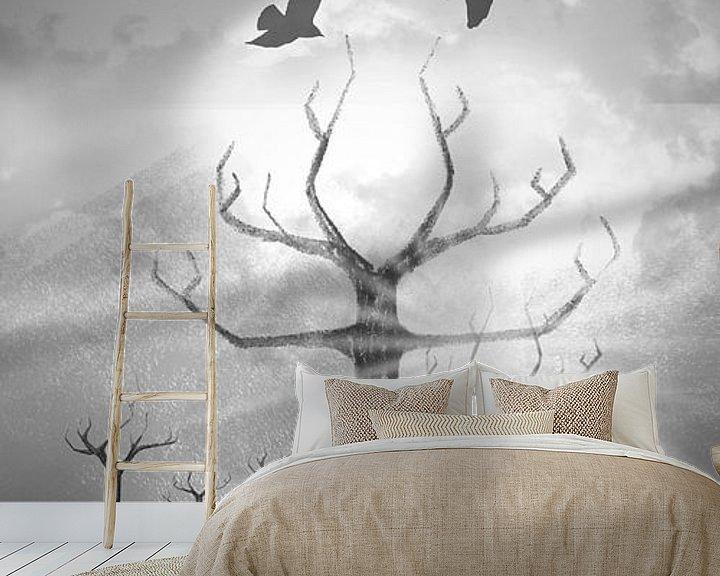 Beispiel fototapete: Digital-Art Fantasy Landscape II von Melanie Viola
