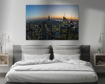 Manhattan na zonsondergang von Joran Maaswinkel
