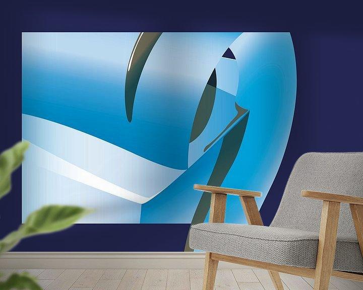 Sfeerimpressie behang: Blauw2 van Robert Smink