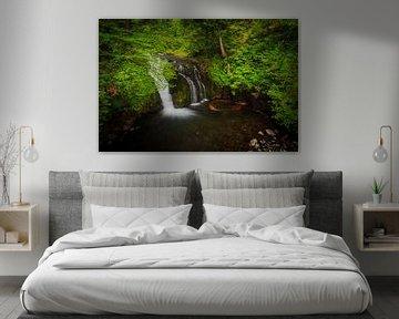 Waterval in Columbia river gorge, Oregon van Marcel Tuit