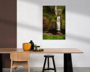 Multnomah watervallen in de Columbia river gorge van Marcel Tuit